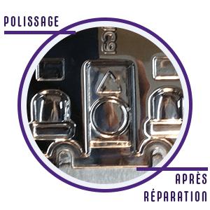 Icône représentant le polissage de moules après réparation