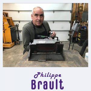 Philippe Brault, polisseur à l'oeuvre